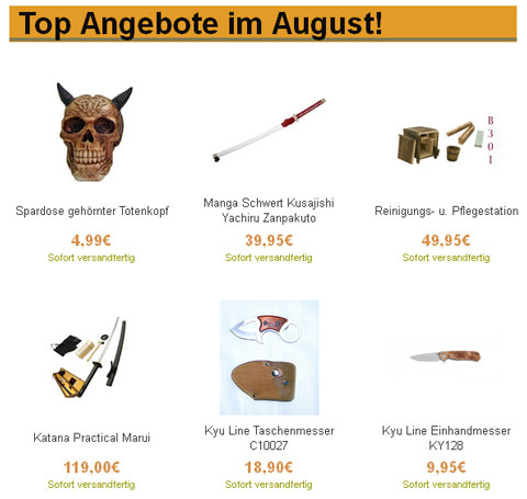 Top Angebote August 2014