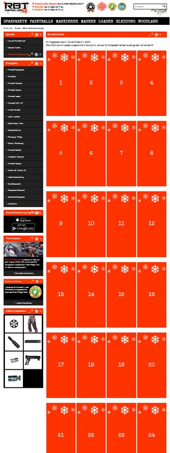 Weihnachtskalender Angebote.Top Angebote Im Offenen Paintball Land Weihnachtskalender