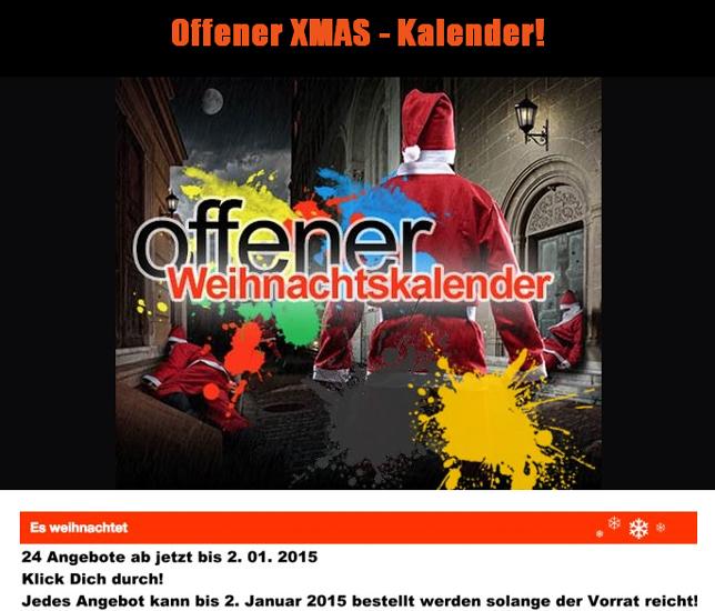Weihnachtskalender Angebote.Die Paintball Land Hammer Xmas Angebote